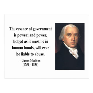 James Madison Quote 5b Postcard