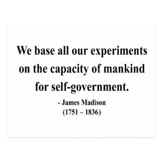 James Madison Quote 6a Postcard