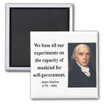 James Madison Quote 6b Magnet