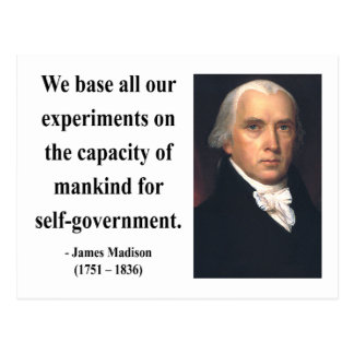 James Madison Quote 6b Postcard