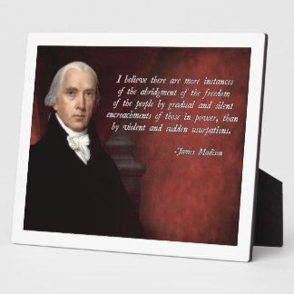 James Madison Quote Display Plaque
