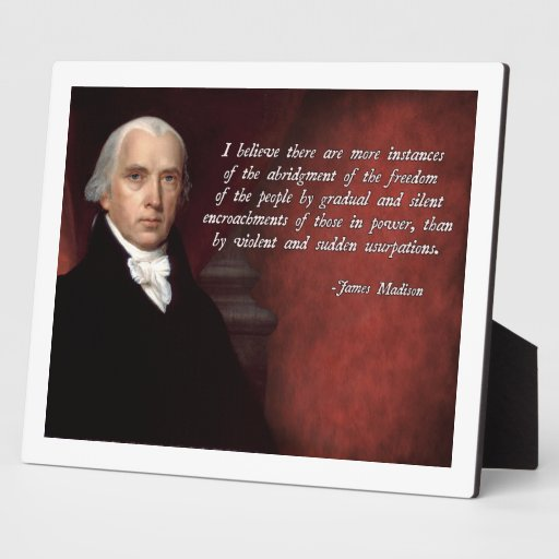 James madison quote display plaque zazzle for James madison pets