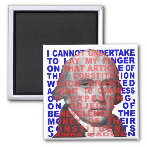 James Madison Quote Magnet