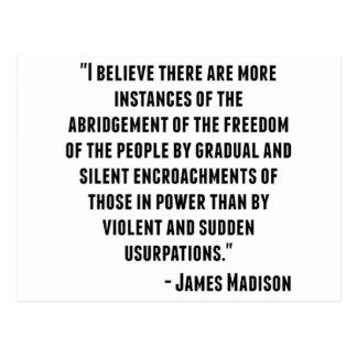 James Madison Quote Postcard