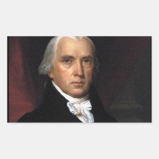 James Madison Rectangular Sticker