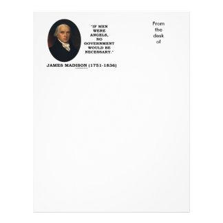 James Madison si los hombres fueran ángeles ningún Plantilla De Membrete