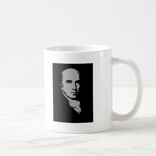 james madison silhouette coffee mug