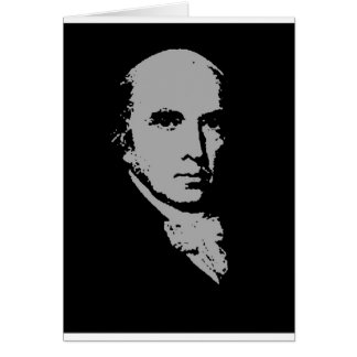 james madison silhouette greeting card