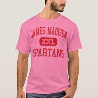 James Madison - Spartans - centro - Burlington Playera
