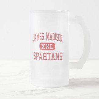 James Madison - Spartans - Middle - Burlington Frosted Glass Beer Mug