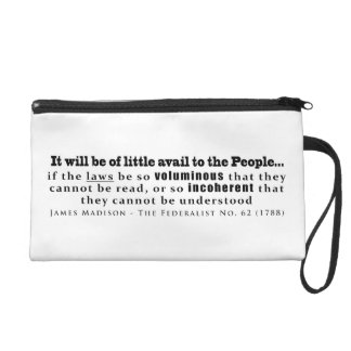 James Madison The Federalist No. 62 (1788) Wristlet