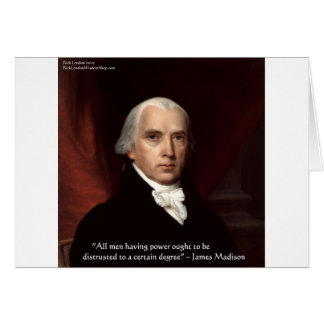 "James Madison ""War & Freedom"" Wisdom Quote Gifts Card"