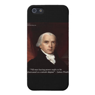 """James Madison """"War & Freedom"""" Wisdom Quote Gifts Cover For iPhone SE/5/5s"""