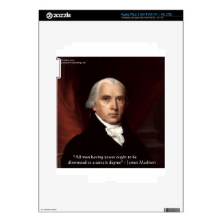 "James Madison ""War & Freedom"" Wisdom Quote Gifts iPad 3 Skins"