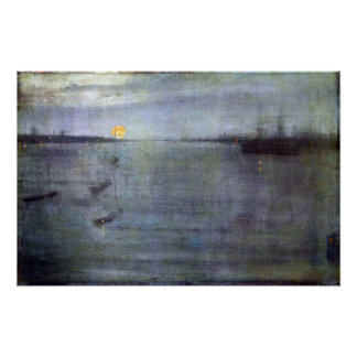 James McNeil Whistler Nocturne in Blue and Gold Poster