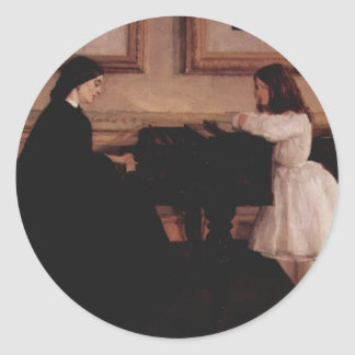 James McNeill Whistler- At the Piano Sticker