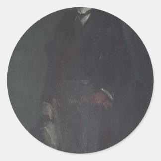 James McNeill Whistler- Edward Guthrie Kennedy Round Stickers