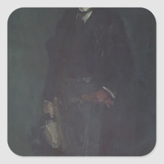James McNeill Whistler- Edward Guthrie Kennedy Square Stickers