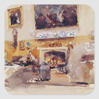 James McNeill Whistler: Moreby Hall Square Stickers