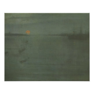 James McNeill Whistler - Nocturne- Blue and Gold Poster