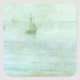 James McNeill Whistler- Nocturne - the Solent Square Stickers