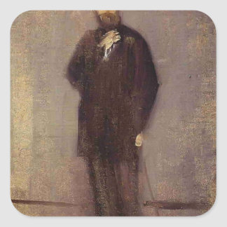James McNeill Whistler- Portrait of F. R. Leyland Square Stickers