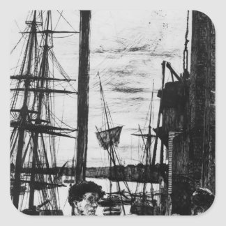 James McNeill Whistler- Rotherhithe Square Sticker