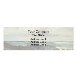 James McNeill Whistler- The Blue Wave Biarritz Double-Sided Mini Business Cards (Pack Of 20)