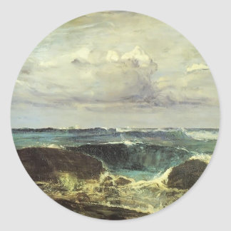 James McNeill Whistler- The Blue Wave Biarritz Round Stickers