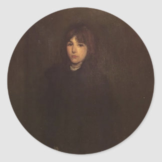James McNeill Whistler- The Boy in a Cloak Round Stickers
