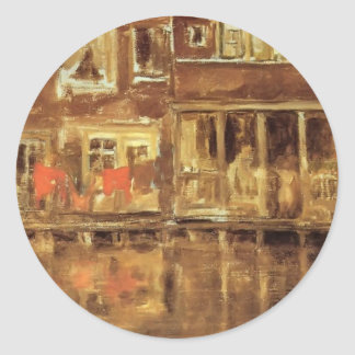 James McNeill Whistler- The Canal Round Stickers