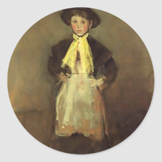 James McNeill Whistler- The Chelsea Girl Round Sticker