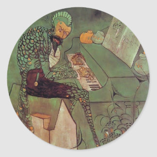 James McNeill Whistler- The Gold Scab Round Stickers