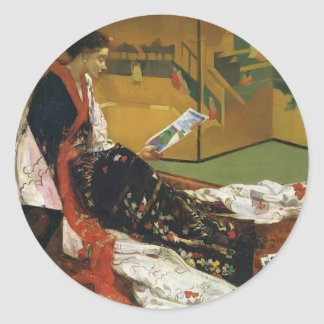 James McNeill Whistler- The Golden Screen Round Stickers