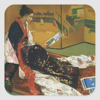 James McNeill Whistler- The Golden Screen Square Sticker