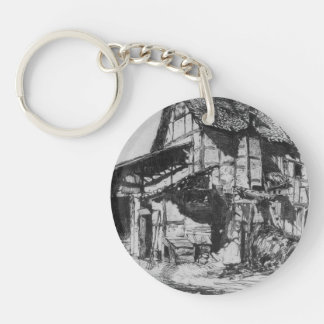 James McNeill Whistler- The Unsafe Tenement Single-Sided Round Acrylic Keychain