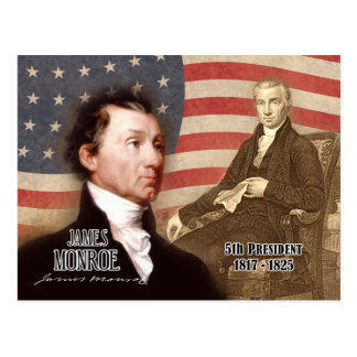 James Monroe - 5th President of the U.S. Postcard