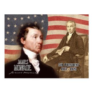 James Monroe - 5to presidente de los E.E.U.U. Tarjeta Postal