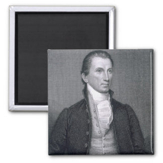 James Monroe, engraved by Asher Brown Durand (1796 2 Inch Square Magnet