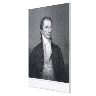 James Monroe, engraved by Asher Brown Durand (1796 Canvas Print