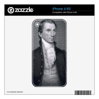 James Monroe, engraved by Asher Brown Durand (1796 Decal For The iPhone 4S