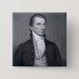James Monroe, engraved by Asher Brown Durand (1796 Pinback Button