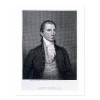 James Monroe, engraved by Asher Brown Durand (1796 Postcard