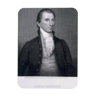 James Monroe engraved by Asher Brown Durand 1796 Flexible Magnet