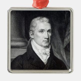 James Monroe, engraved by Thomas Gimbrede Metal Ornament