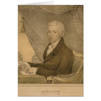 James Monroe Fifth President of the United States Card