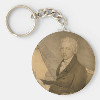James Monroe Fifth President of the United States Basic Round Button Keychain