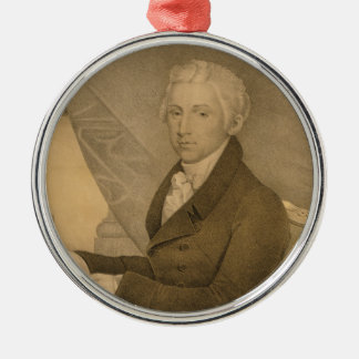 James Monroe Fifth President of the United States Metal Ornament