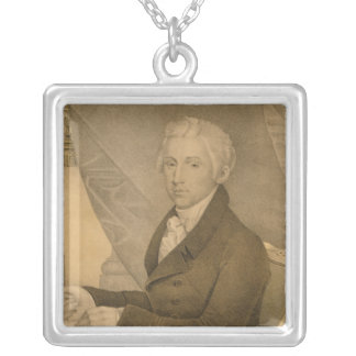 James Monroe Fifth President of the United States Square Pendant Necklace
