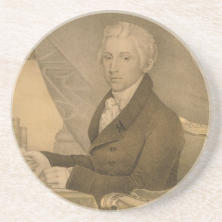 James Monroe Fifth President of the United States Sandstone Coaster